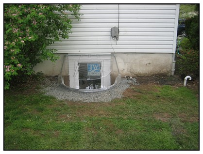 This is a finished egress window