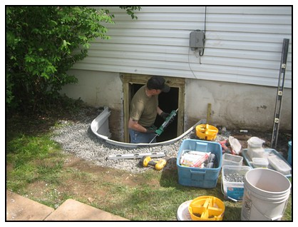 This is the installation of the egress door process