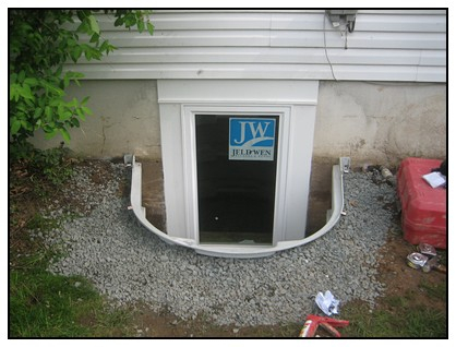 This is the finished egress window with no cover