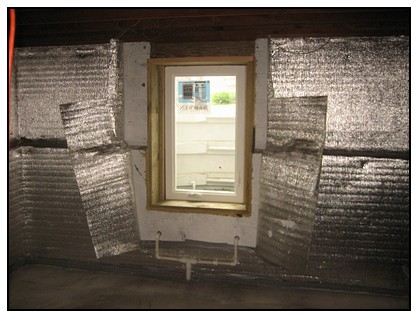 This is the interior view of the egress window