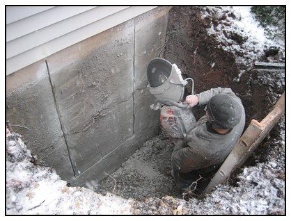 This is the removal of the foundation
