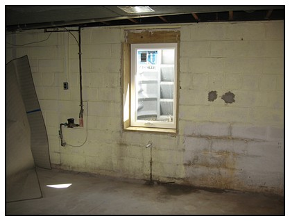 This is the interior view of the egress window location