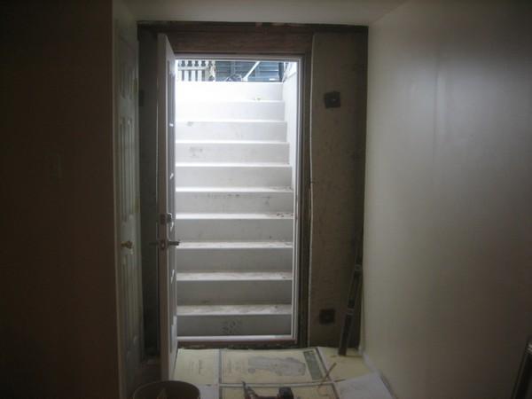 Basement door and stairs