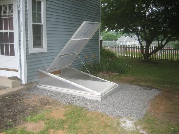 Installation of Cleargress Door Basement Entrance