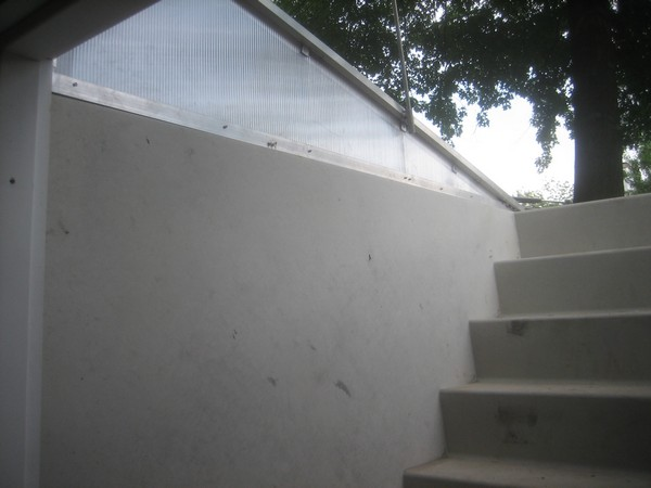 Details of stairs of Installation of Cleargress Door Basement Entrance