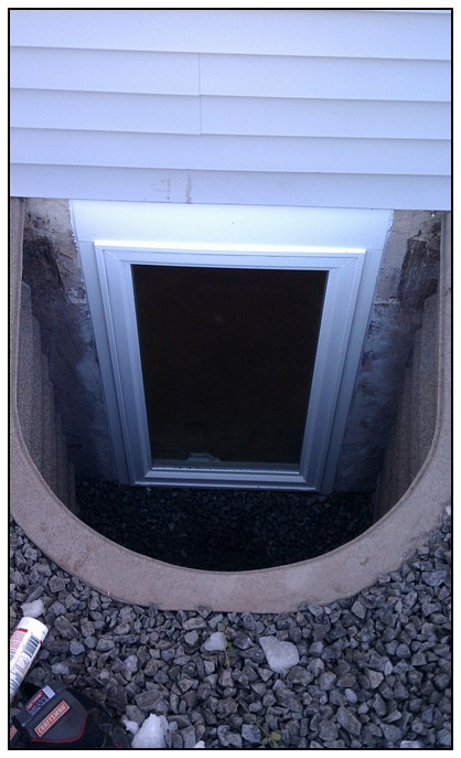 This is a top view of the egress window