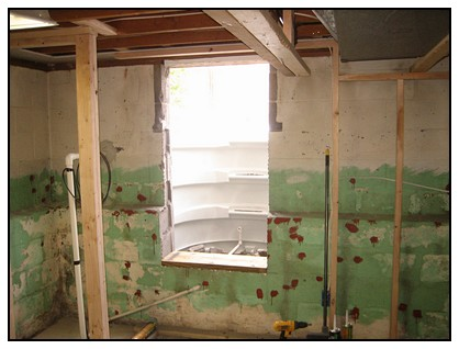 This is the interior foundation cutout