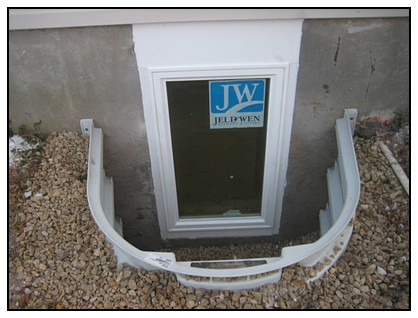 This is the finished egress window