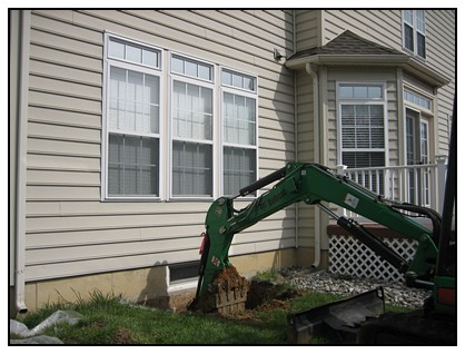 Removal of dirt from the egress window spot