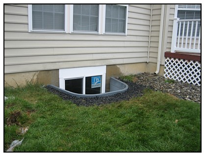 This is a side view of the egress window well