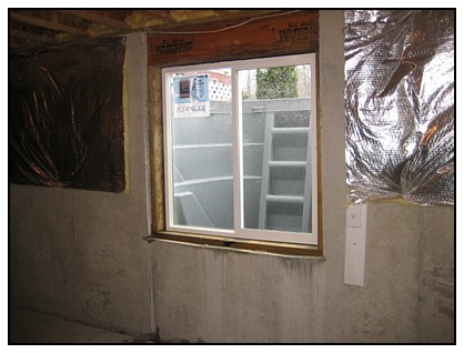 This is the interior view of the finished egress window