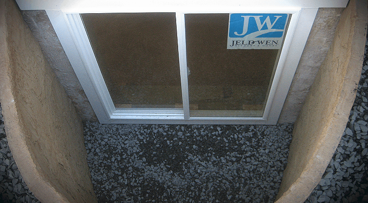 This is the finished window installation