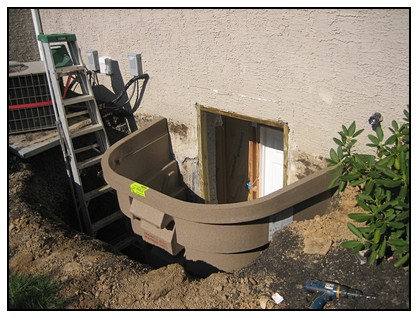 This is the attached window well with the cut out foundation
