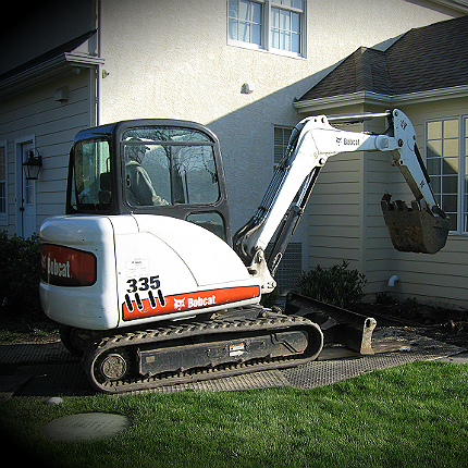 This is the removal of dirt for the egress window