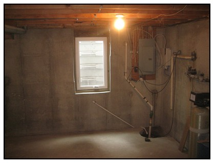 This is an interior view of an egress window