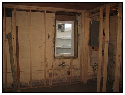 This is the interior view of an egress window