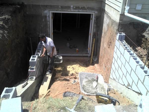 Installation process for Custom basement entrance