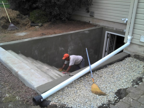 Installation of stairs for Custom basement entrance