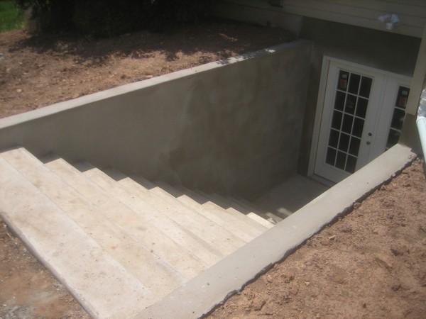 Custom basement entrance in white