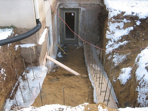 Custom Basement Entrance installation process