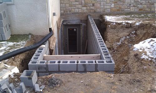 Custom Basement Entrance installation