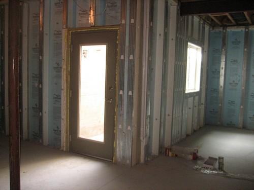 Basement space for entrance