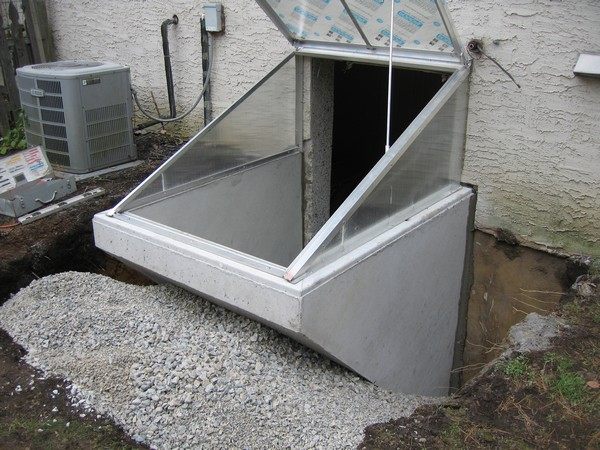 Installation of Cleargress Door Basement Entrance