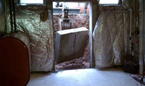 Opening entrance in basement