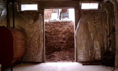 Opening of entrance for egress basement
