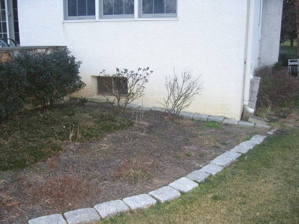New space for basement egress entrance