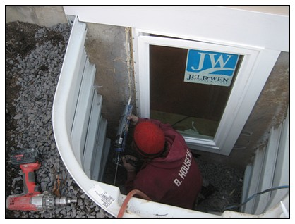 This is an almost finished egress window