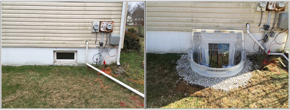 Egress installation before and after