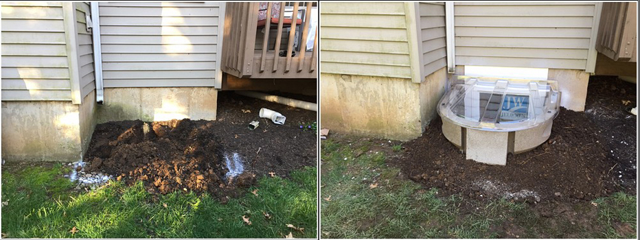 Wellcraft Egress installation before and after