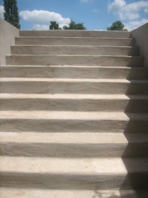 Custom basement entrance staircase