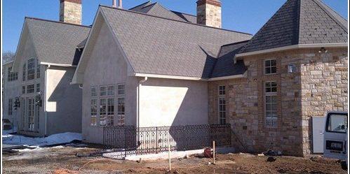 Far exterior view of custom basement entrance