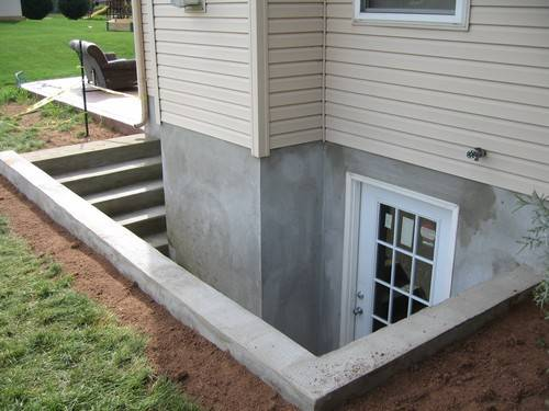 This is a custom basement entrance