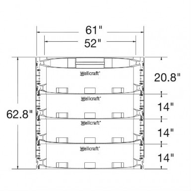 These are dimensions of the wellcraft 5600 series