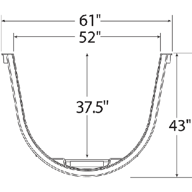These are top view dimensions of the wellcraft 5600 series