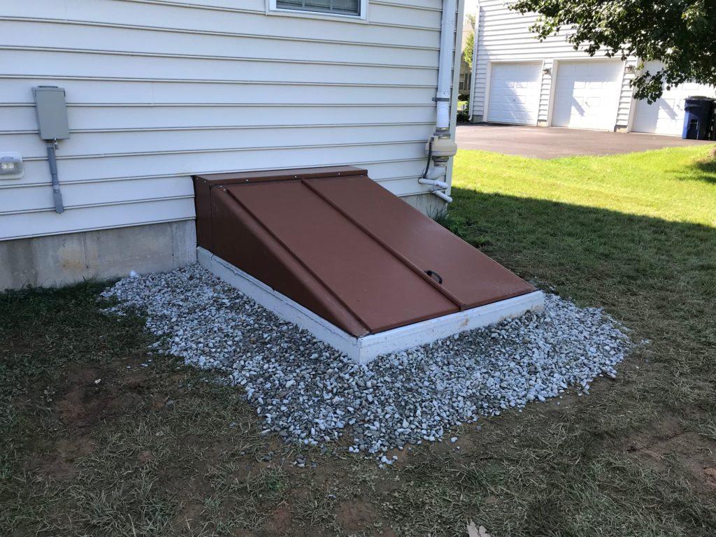 Completed Bilco® Door emergency entrance project