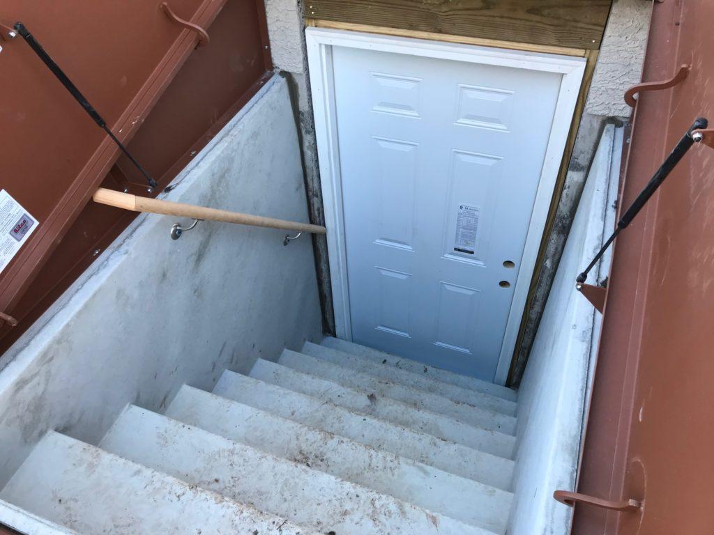 External basement exit passages