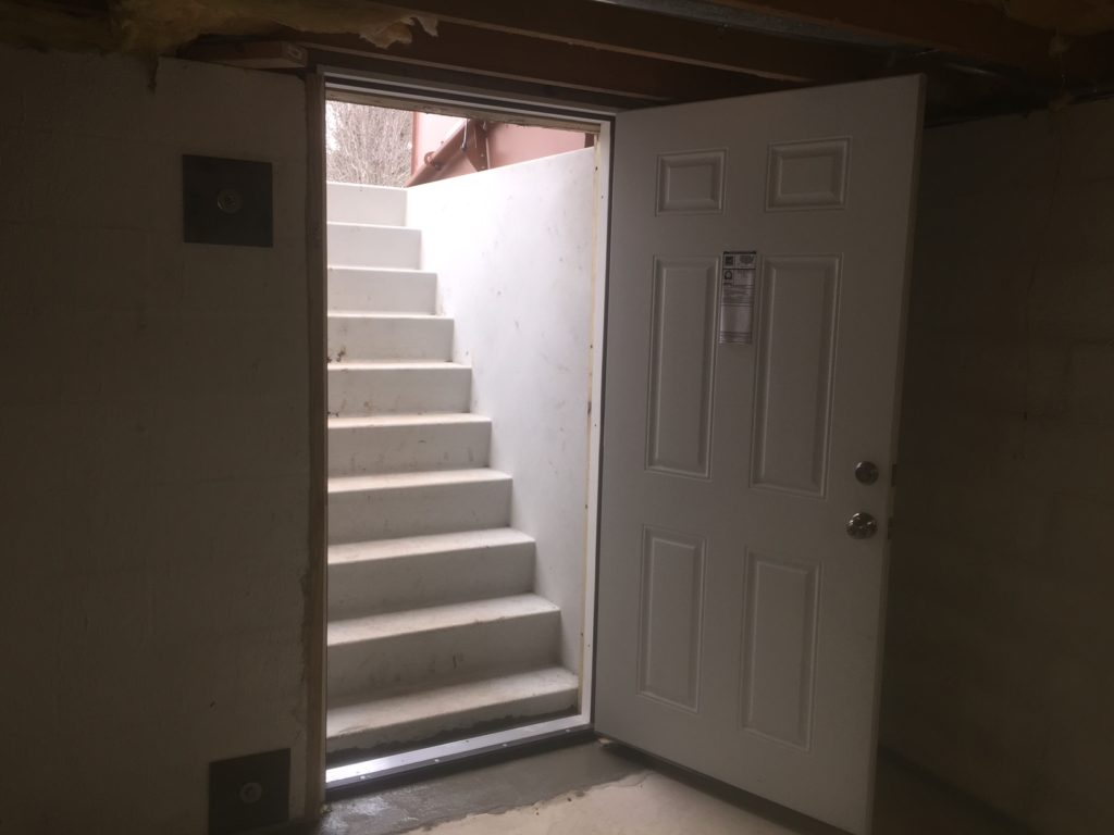 Basement PermEntry stair system brings safety to the house