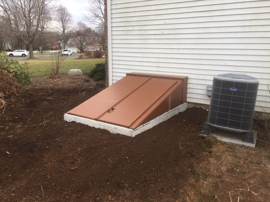 Completed basement egress system project