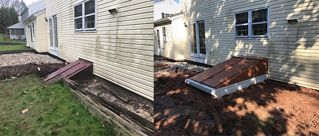 The basement entrance project for customer in colonial avenue