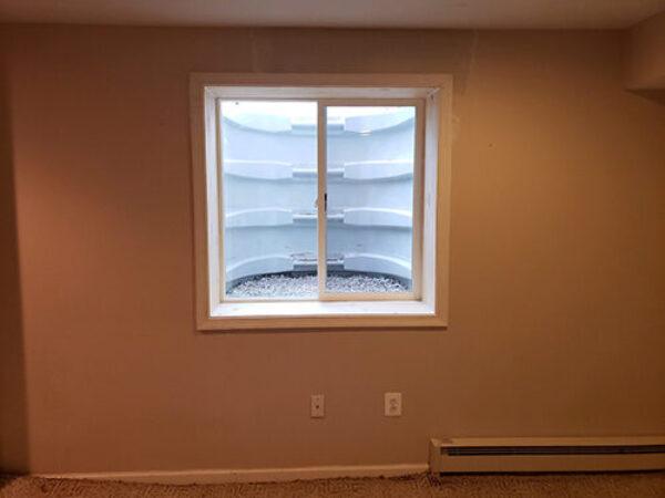 Inside of wellcraft window well