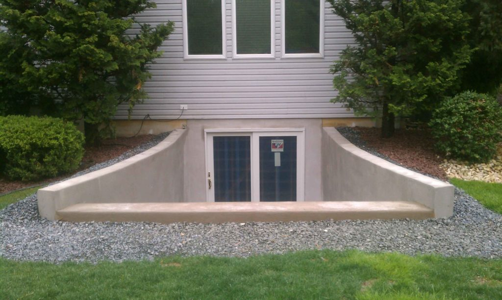 Completed custom entrance