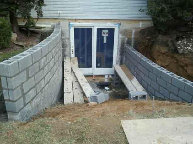 Custom entrance under construction