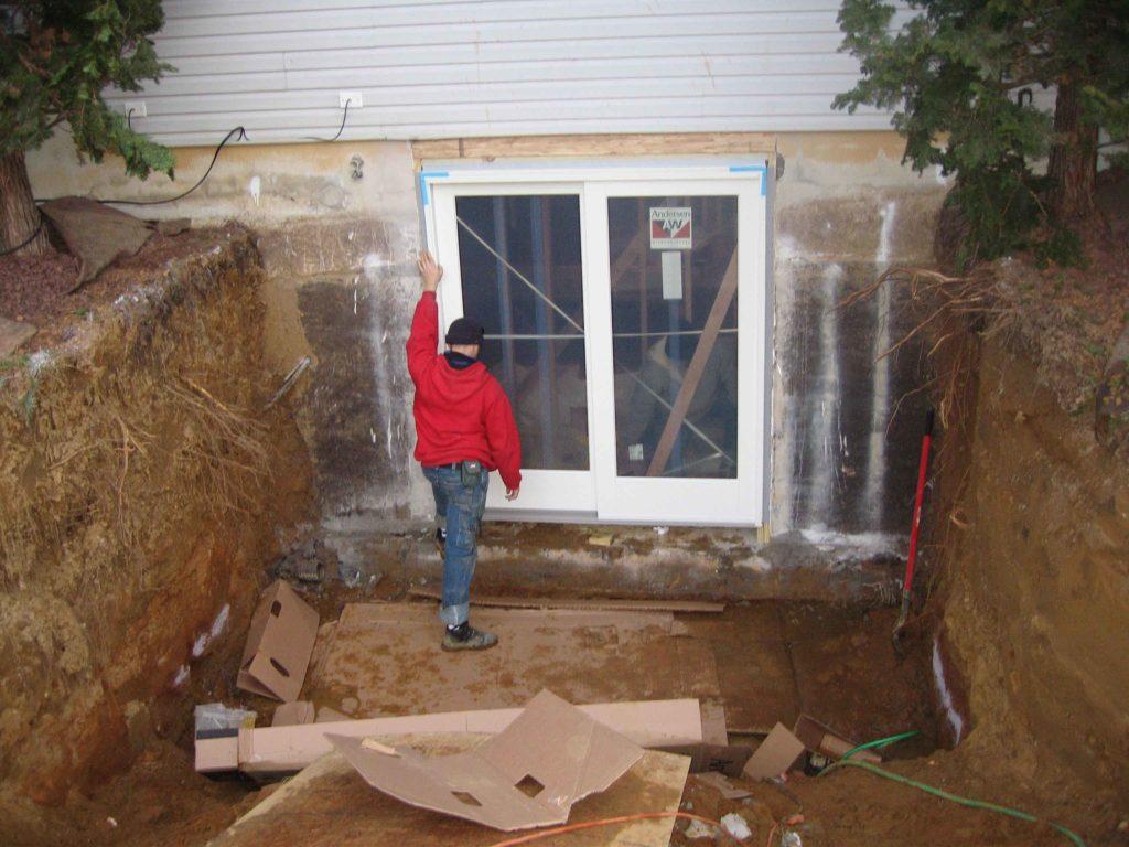 ESI worker with door