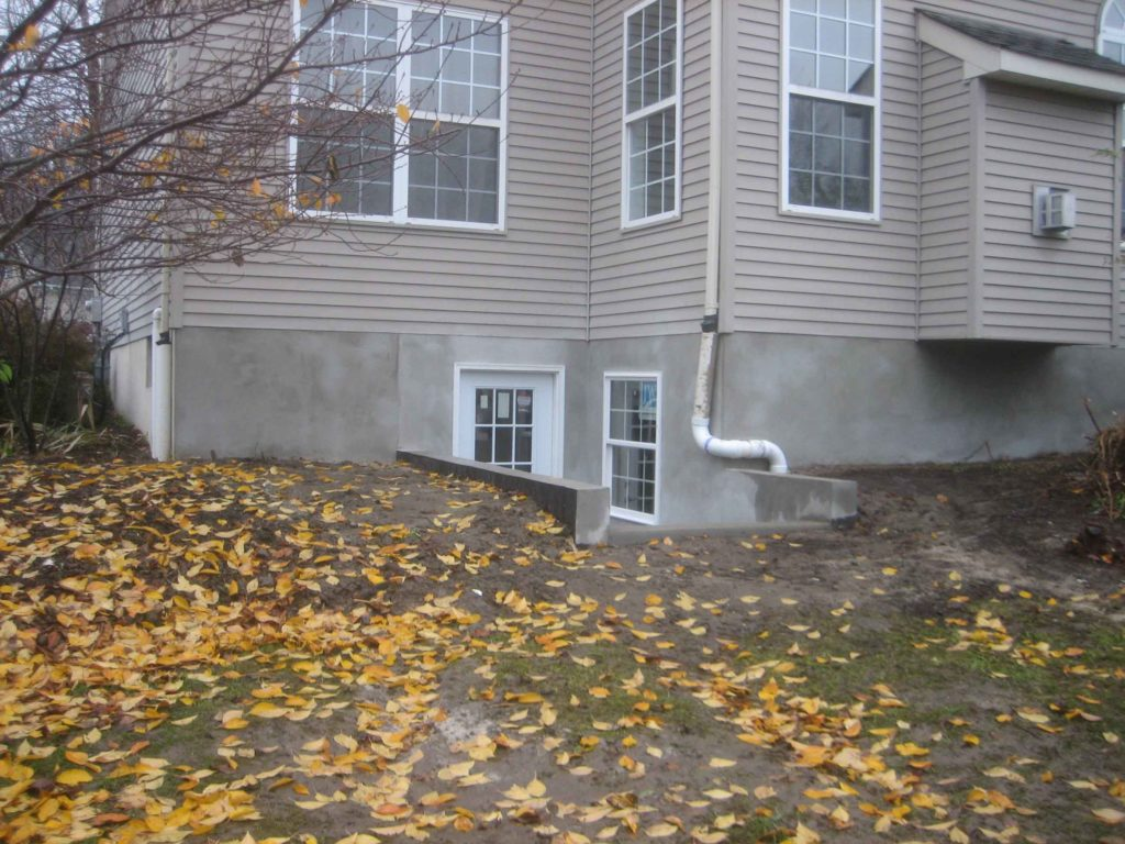 The completed basement permentry egress project in Sellersville, PA