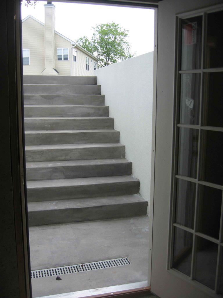 Custom Cleargress® basement entrance exterior view