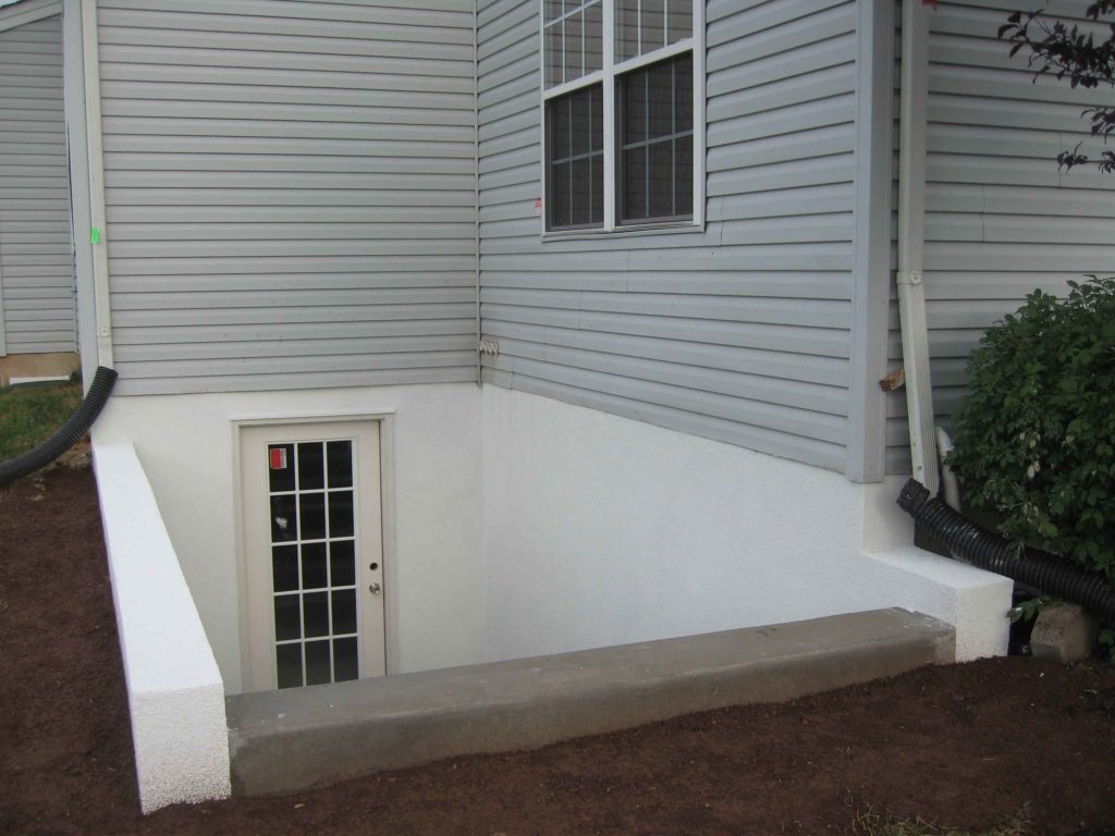 Egress system,inc custom Cleargress® basement entrance project